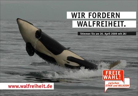 Pro Reli fordert Walfreiheit. Da sind wir dabei!