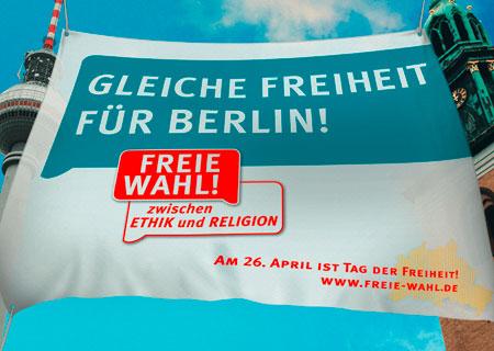 »Pro Reli«-Plakat für den Volksentscheid